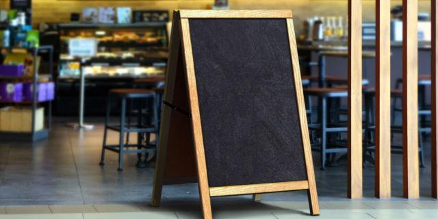 Restaurant sidewalk chalkboard sign board