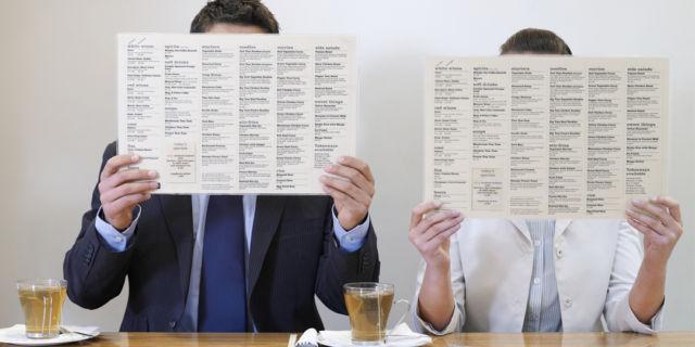 People behind menus