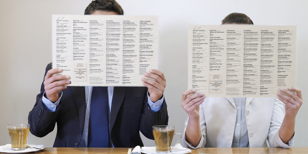 People behind menus